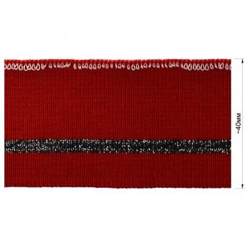 Довяз (манжета), цвет  красный+черный+люрекс