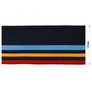 Довяз (манжета), цвет  темно-синий+голубой+желтый+красный