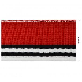 Довяз (манжета), цвет  красный+черный+белый