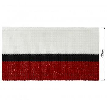 Довяз (манжета), цвет  белый+черный+красный+люрекс