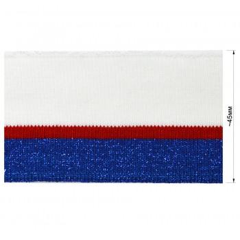 Довяз (манжета), цвет   белый+красный+синий+люрекс