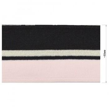 Довяз (манжета), цвет розовый+черный+серебро