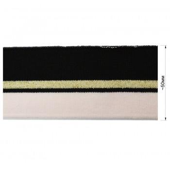 Довяз (манжета), цвет розовый+черный+золото