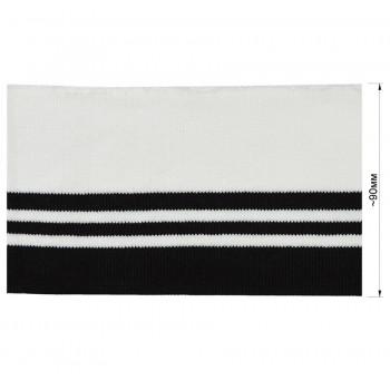 Довяз (манжета), уплотненный, цвет белый+черный