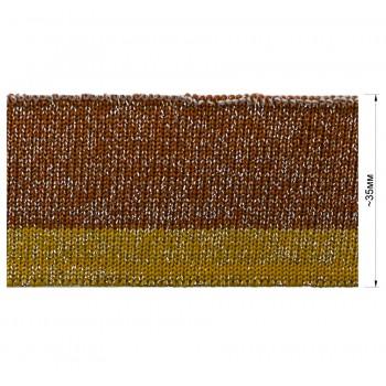 Довяз (манжета), цвет коричневый+желтый+серебро