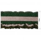 Довяз (манжета), цвет зеленый+розовый+люрекс