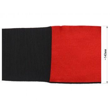 Довяз (манжета), цвет красный+черный