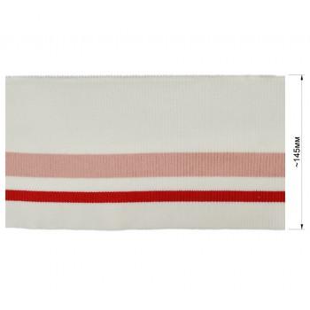 Довяз (манжета), цвет белый+розовый+красный,