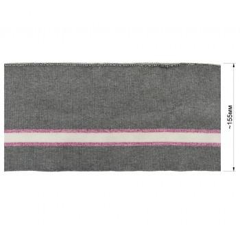Довяз (манжета), цвет серый+розовый+белый