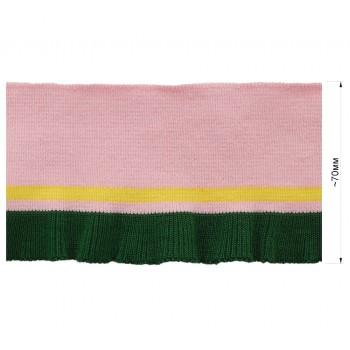 Довяз (манжета), цвет розовый+желтый+зеленый