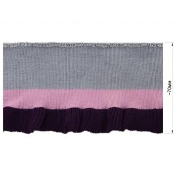 Довяз (манжета), цвет серый+розовый+фиолетовый
