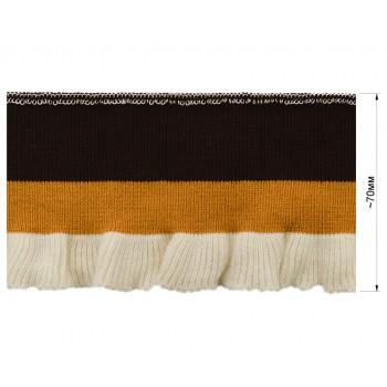 Довяз (манжета), цвет т.коричневый+желтый+белый