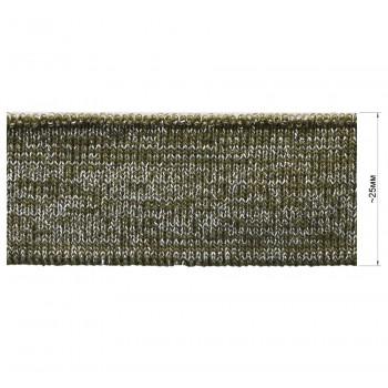 Довяз (манжета), цвет хаки+серебро