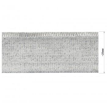 Довяз (манжета), цвет белый+серебро