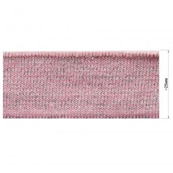 Довяз (манжета), цвет грязно розовый+серебро