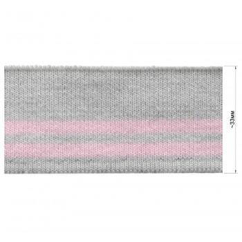 Довяз (манжета), цвет светло-серый+розовый