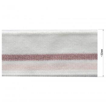 Довяз (манжета), цвет белый+розовый