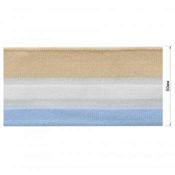 Довяз (манжета), цвет голубой+белый+бежевый