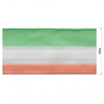 Довяз (манжета), цвет персиковый+белый+зеленый