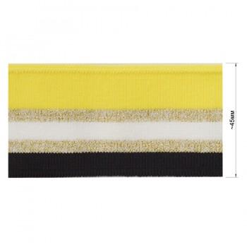 Довяз (манжета), цвет черный+белый+желтый