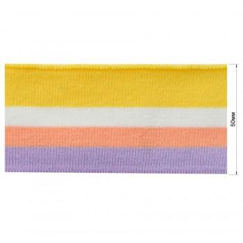 Довяз (манжета), цвет  сиреневый+оранжевый+белый+желтый