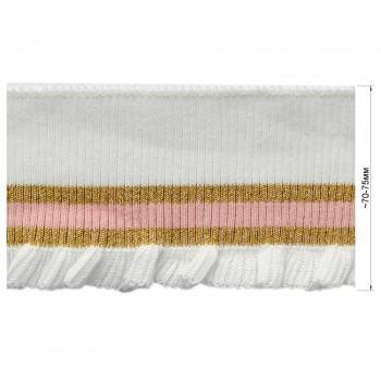 Довяз (манжета), цвет белый+розовый+золото
