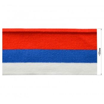 Довяз (манжета), цвет белый+синий+красный