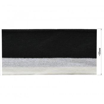 Довяз (манжета), цвет белый+серебро+черный