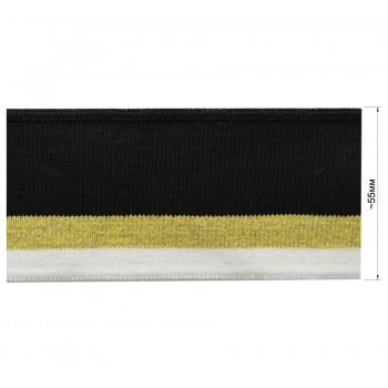Довяз (манжета), цвет белый+золото+черный