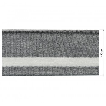 Довяз (манжета), цвет светло-серый+белый