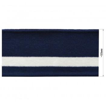 Довяз (манжета), цвет темно-синий+белый