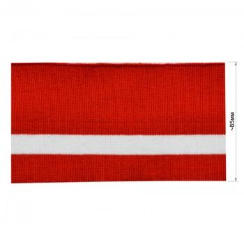 Довяз (манжета), цвет красный+белый