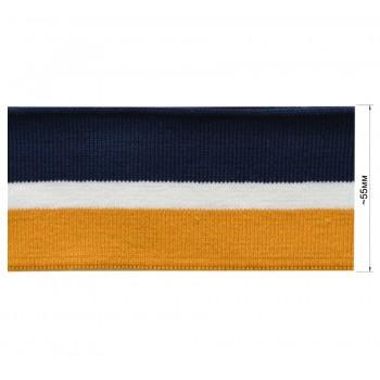 Довяз (манжета), цвет горчица+белый+темно-синий