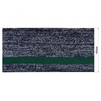 Довяз (манжета), цвет темно-синий+серебро+зеленый