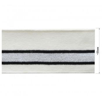 Довяз (манжета), цвет белый+черный+серебро