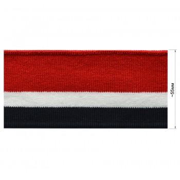 Довяз (манжета), цвет темно-синий+белый+красный