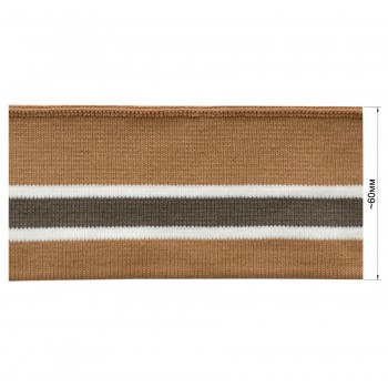 Довяз (манжета), цвет бежевый+белый+серый