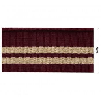 Довяз (манжета), цвет бордо+песочный+золото