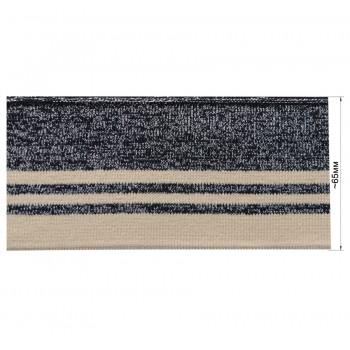 Довяз (манжета), цвет черно-синий+серебро+бежевый