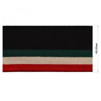 Довяз (манжета), цвет черный+зеленый+бежевый+красный