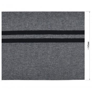 Довяз (манжета), цвет темно-cерый+черный
