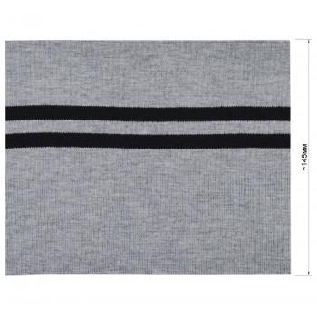 Довяз (манжета), цвет cветло-cерый+черный