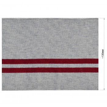 Довяз (манжета), цвет cерый+темно-красный