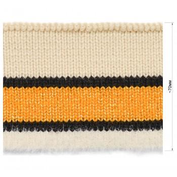Довяз (манжета), цвет молочный+черный+желтый+люрекс