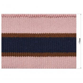 Довяз (манжета), цвет розовый+коричневый+синий