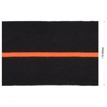 Довяз (манжета), цвет черный+оранжевый