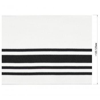 Довяз (манжета), цвет белый+черный