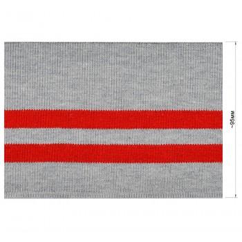 Довяз (манжета), цвет cерый+красный