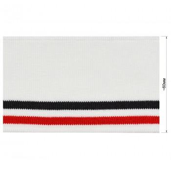 Довяз (манжета), цвет белый+красный+черный