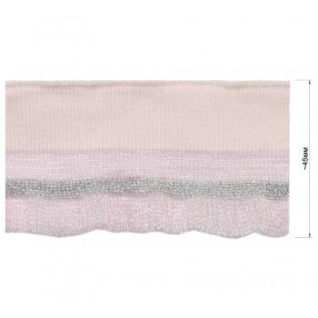 Довяз (манжета), цвет розовый +серебро